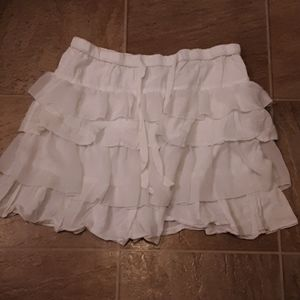 ❄ 2/$12 [Old Navy] White Ruffle Mini Skirt